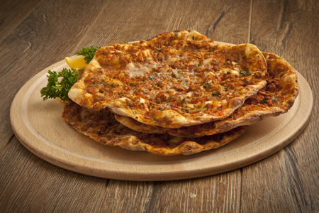 Turkse pide Lahmacun - Stock Image