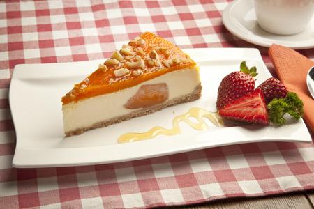 pumpkin cheesecake concept Stock Photo - 26405044