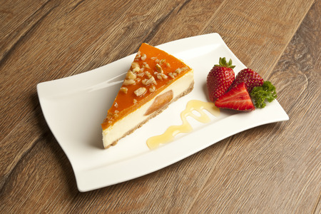 pumpkin cheesecake Stock Photo - 26405047