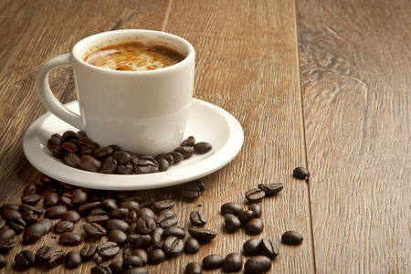 turkish: Turkish Coffee and coffee beans wooden background