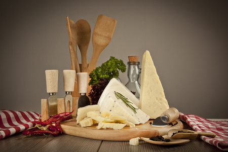 Cheese still life - Stock Image photo