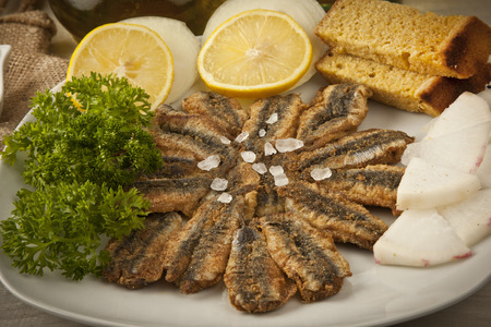 anchovy: Anchovy fries Stock Photo