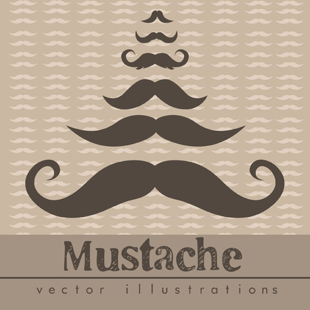 Mustaches vector illustrations background Vector