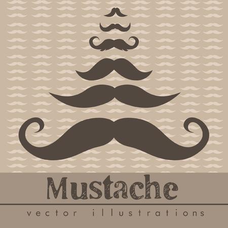 Mustaches vector illustrations background Illustration