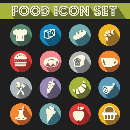 Basic Food Icons Vector