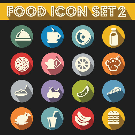 basic food: Basic Food Icons Vector Set 2