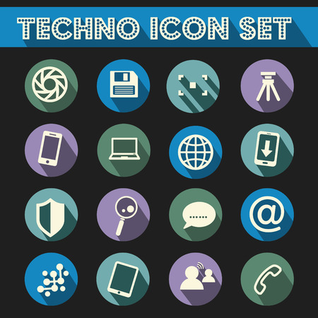 mouse pad: Technology Icon Vector Set