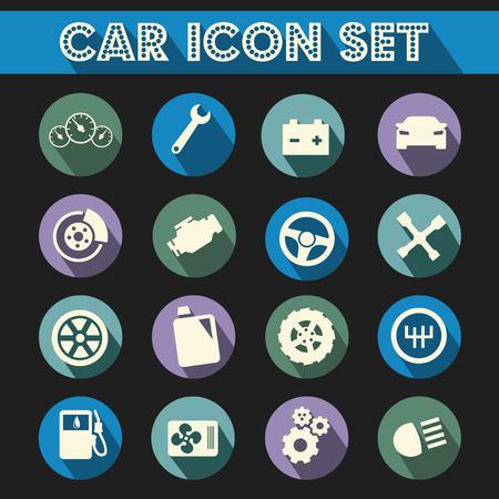 車の修理のアイコン ベクトルを設定