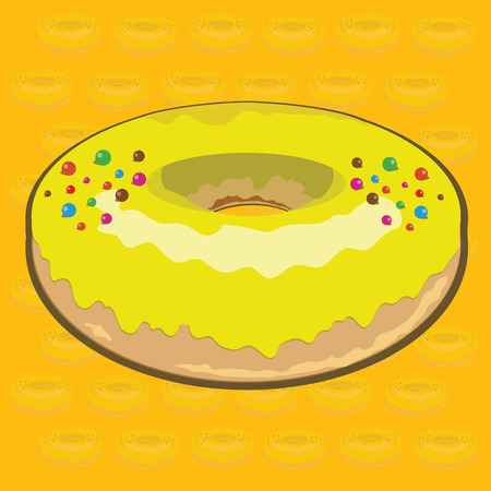 Lime Donut Vector