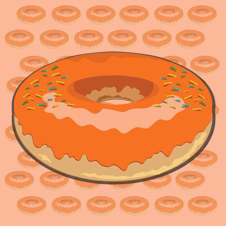 Orange Donut Vector