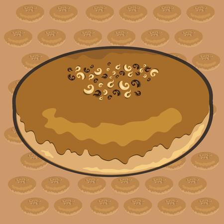 Caramel Donut Vector