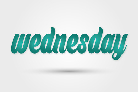 wednesday: Vector the day of week - Wednesday