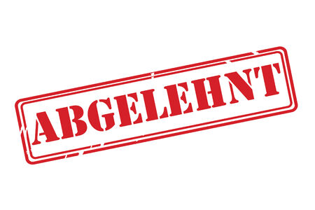 refuse: ABGELEHNT ( rejected ) Stamp vector over a white background.