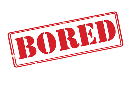 spiritless: BORED red rubber stamp vector over a white background.