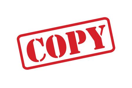 Vector rojo del sello de goma 'COPIAR' sobre un fondo blanco.