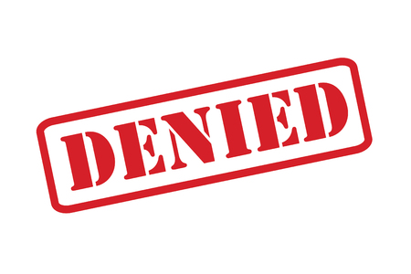 boycott: Denied red rubber stamp vector over a white background