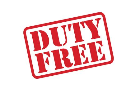 devoir: Vecteur de timbre DUTY FREE en caoutchouc sur un fond blanc. Illustration