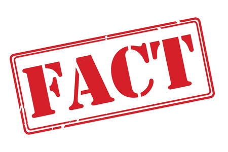 fact: FACT red rubber stamp vector over a white background.