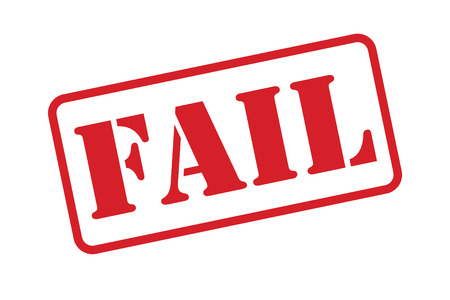 A Fail Stamp vector over a white background.