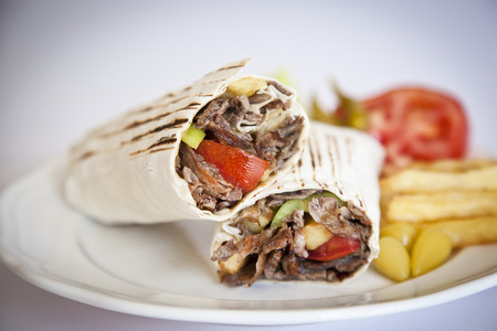 heerlijke Turkse doner kebab gegrild vlees