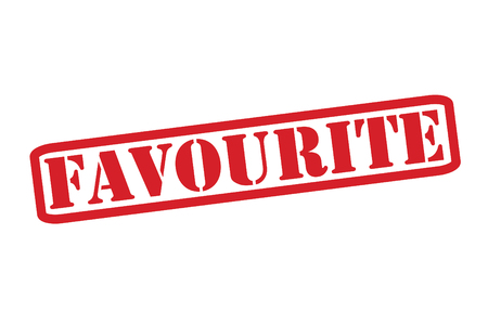 favour: FAVOURITE Rubber Stamp over a white background. Illustration
