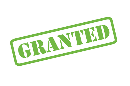 granting: GRANTED green rubber stamp over a white background.