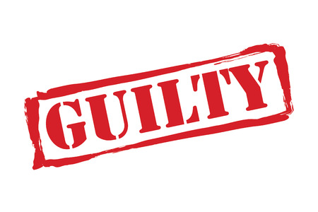 convicted: GUILTY red rubber stamp over a white background.