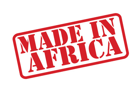 MADE IN AFRICA Rubber Stamp over a white background. Vector