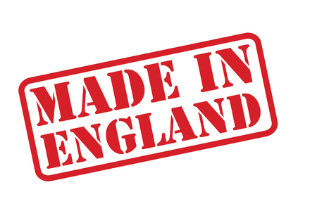 MADE IN ENGLAND Rubber Stamp over a white background. Vector