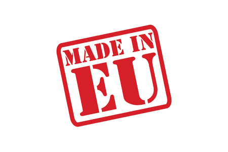 made in greece stamp: MADE IN EU Rubber Stamp over a white background.