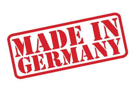 MADE IN GERMANY Rubber Stamp over a white background. Vector