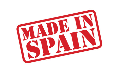 made in spain: MADE IN SPAIN Rubber Stamp over a white background. Illustration