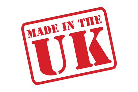 MADE IN THE UK Rubber Stamp over a white background. Vector