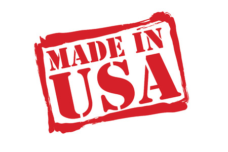 made in usa: MADE IN USA red rubber stamp over a white background.