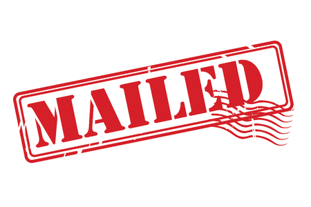 transported: MAILED red rubber stamp over a white background.