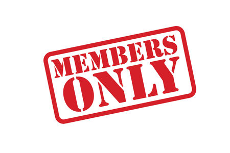 MEMBERS ONLY Rubber Stamp over a white background. Vector