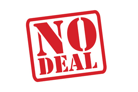 NO DEAL Red Rubber Stamp over a white background.