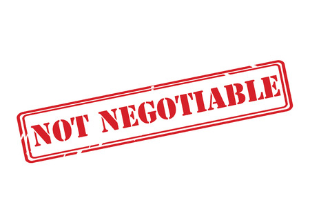 NOT NEGOTIABLE red rubber stamp over a white background.
