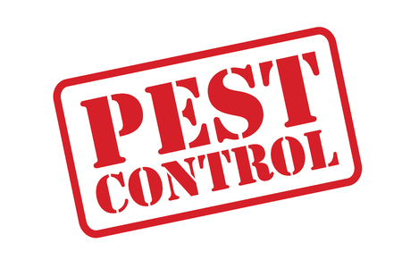 pest control: PEST CONTROL red Rubber Stamp over a white background.