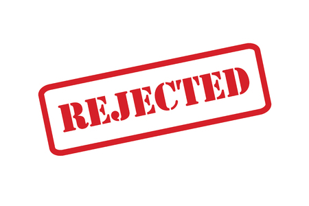 defective: A Reject stamp vector over a white background.