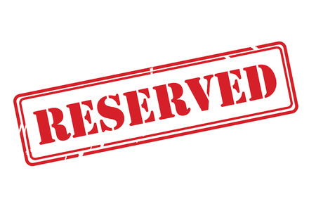 reserved: RESERVED red rubber stamp over a white background.
