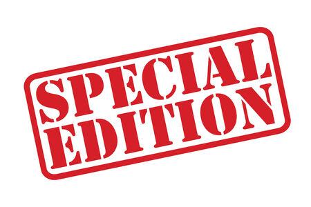 edizione straordinaria: SPECIAL EDITION timbro di gomma su uno sfondo bianco.