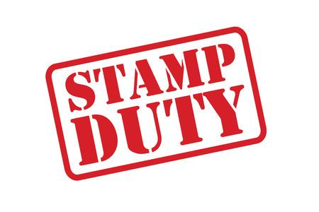 스탬프 의무 빨간색 흰색 배경 위에 고무 도장입니다. 일러스트