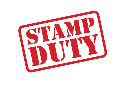 deeds: STAMP DUTY red Rubber Stamp over a white background. Illustration