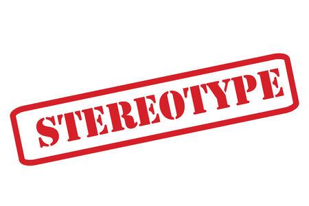 estereotipo: Goma roja ESTEREOTIPO sello sobre un fondo blanco. Vectores