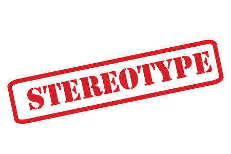 stereotype: STEREOTYPE red Rubber Stamp over a white background. Illustration