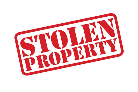 snatched: STOLEN PROPERTY Rubber Stamp over a white background.