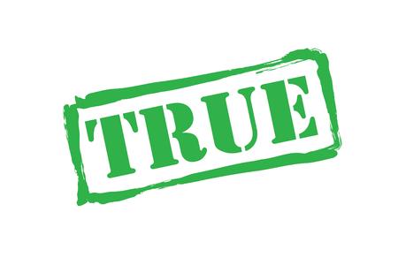validez: TRUE sello de goma verde sobre un fondo blanco.