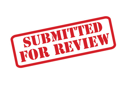 SUBMITTED FOR REVIEW red rubber stamp over a white background.