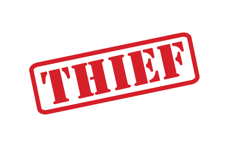snatched: THIEF Rubber Stamp over a white background. Illustration